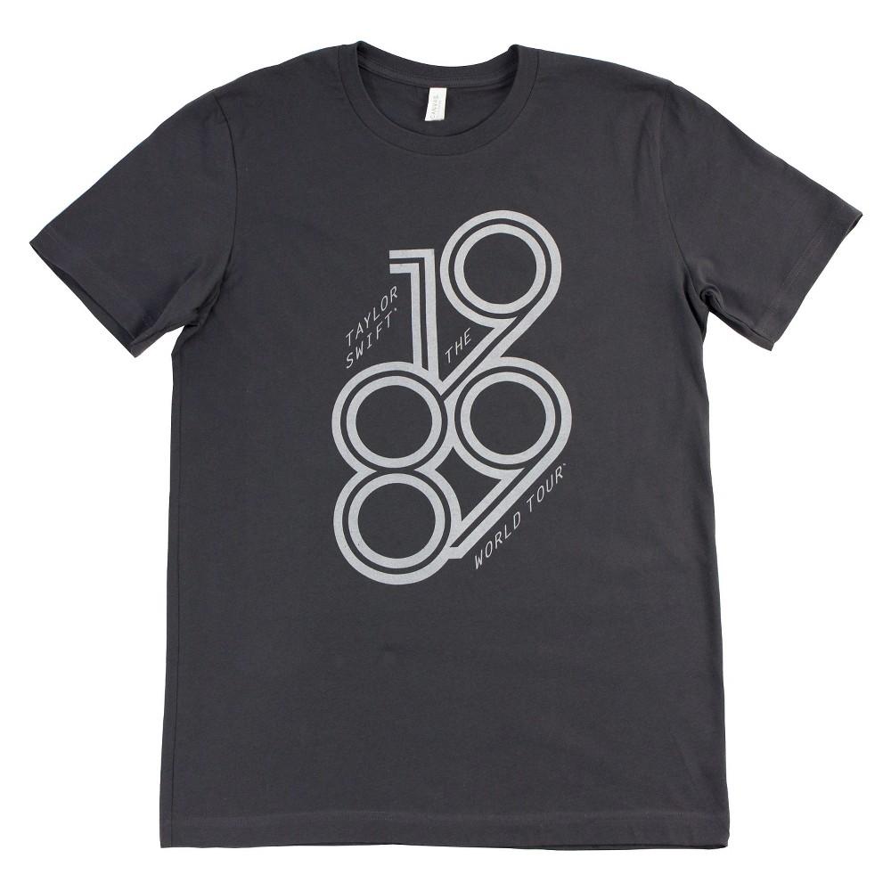 Taylor Swift - 1989 World Tour T-Shirt - Grey Youth MD, Girl's, Size: M (7-8), Dark Ash