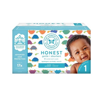 The Honest Company Club Pack Disposable Diapers Happy Together - Size 1 (80ct)