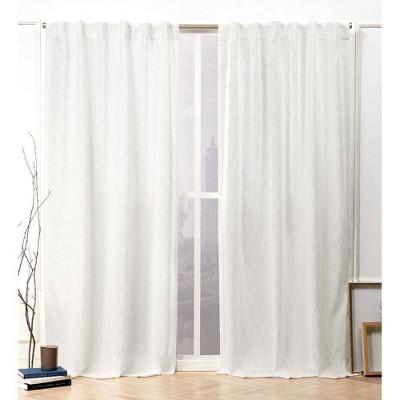 Tangled Hidden Tab Top Curtain Panel Pair - Nicole Miller