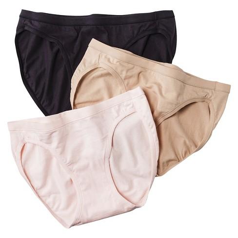 8d735d4e6661 Hanes® Women's ComfortSoft® Waistband Cotton Bikini ET42AS 3pk (Colors May  Vary)