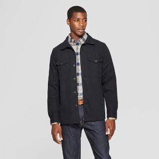 Men's Lightweight Shirt Jacket - Goodfellow & Co™ Black 2XL