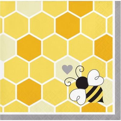 Bumblebee 48ct Baby Shower Beverage Napkins