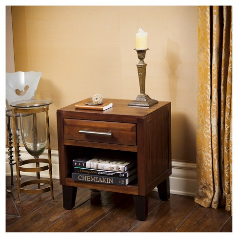 Luna Acacia Wood End Table Brown Mahogany Christopher Knight Home Target