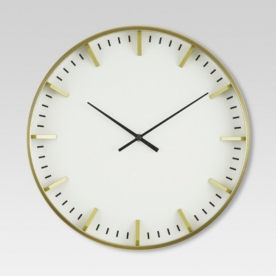 Raised Marker 16  Wall Clock White/Brass - Project 62™