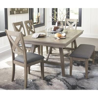 Aldwin Rectangular Dining Room Table Dark Gray - Signature Design by Ashley
