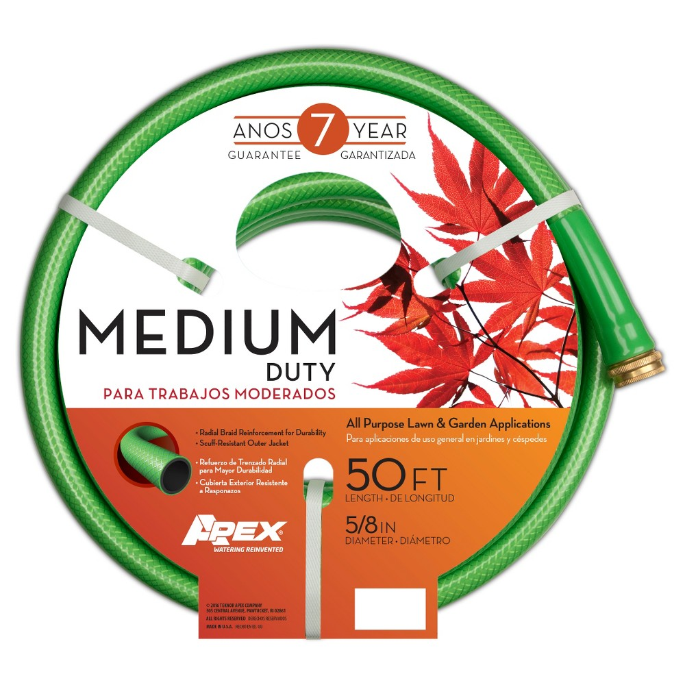 5/8 x 50' Apex Medium Duty Hose, Green