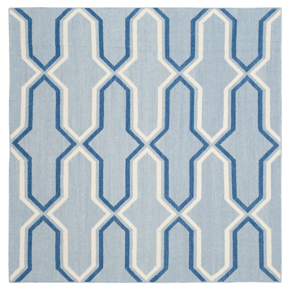 6'X6' Geometric Area Rug Light Blue/Dark Blue - Safavieh