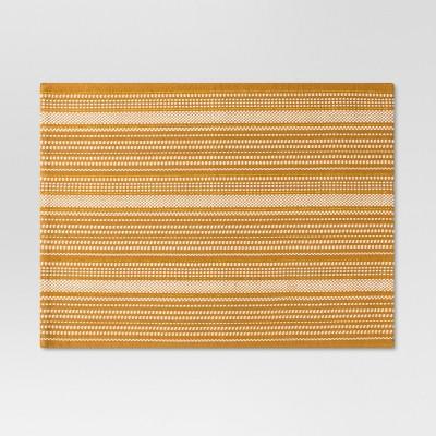 Gold Metallic Stripe Placemat - Threshold™