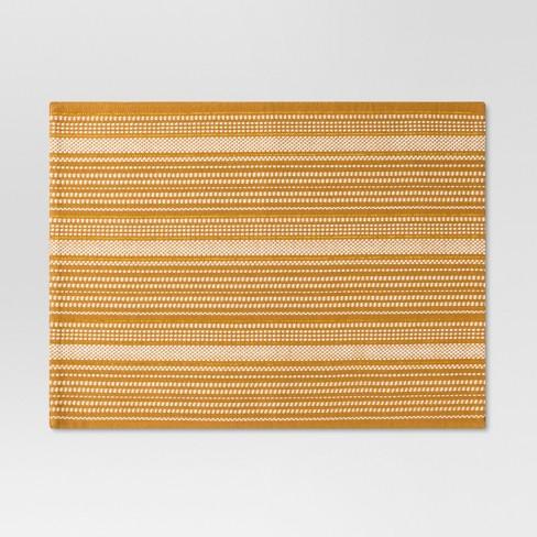 Gold Metallic Stripe Placemat - Threshold™ - image 1 of 1