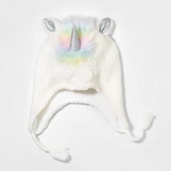 Girls' Unicorn Trapper Hat - Cat & Jack™ White One Size