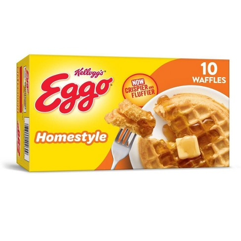 Kellogg's Eggo Frozen Homestyle Waffles - 12.3oz/10ct - image 1 of 4