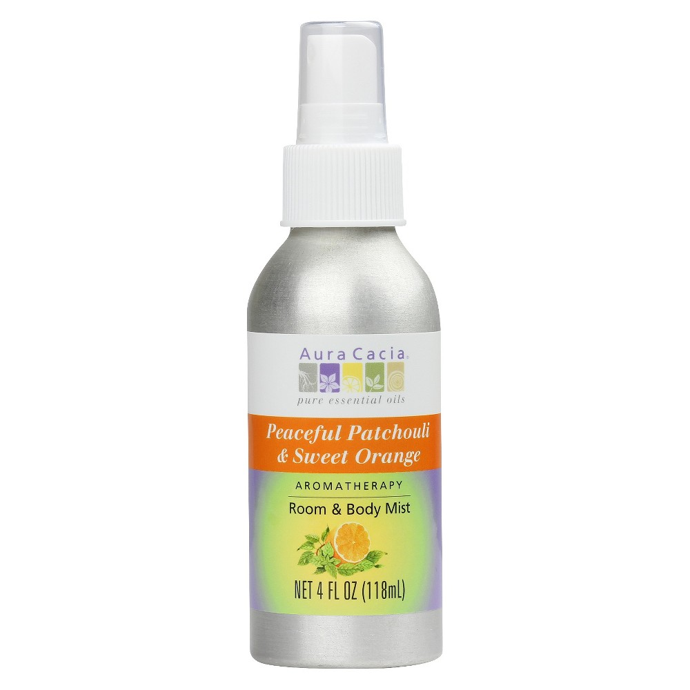 Image of Aura Cacia Aromatherapy Room & Women's Body Mist - Peaceful Patchouli & Sweet Orange - 4oz