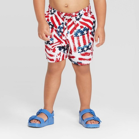 a7c7e7423 Toddler Boys' Americana Swim Trunks - Red 5T : Target