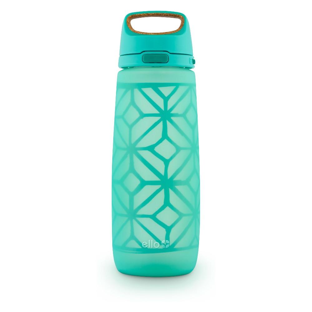 Ello Wren Glass Hydration Bottle 24oz - Gray, Green
