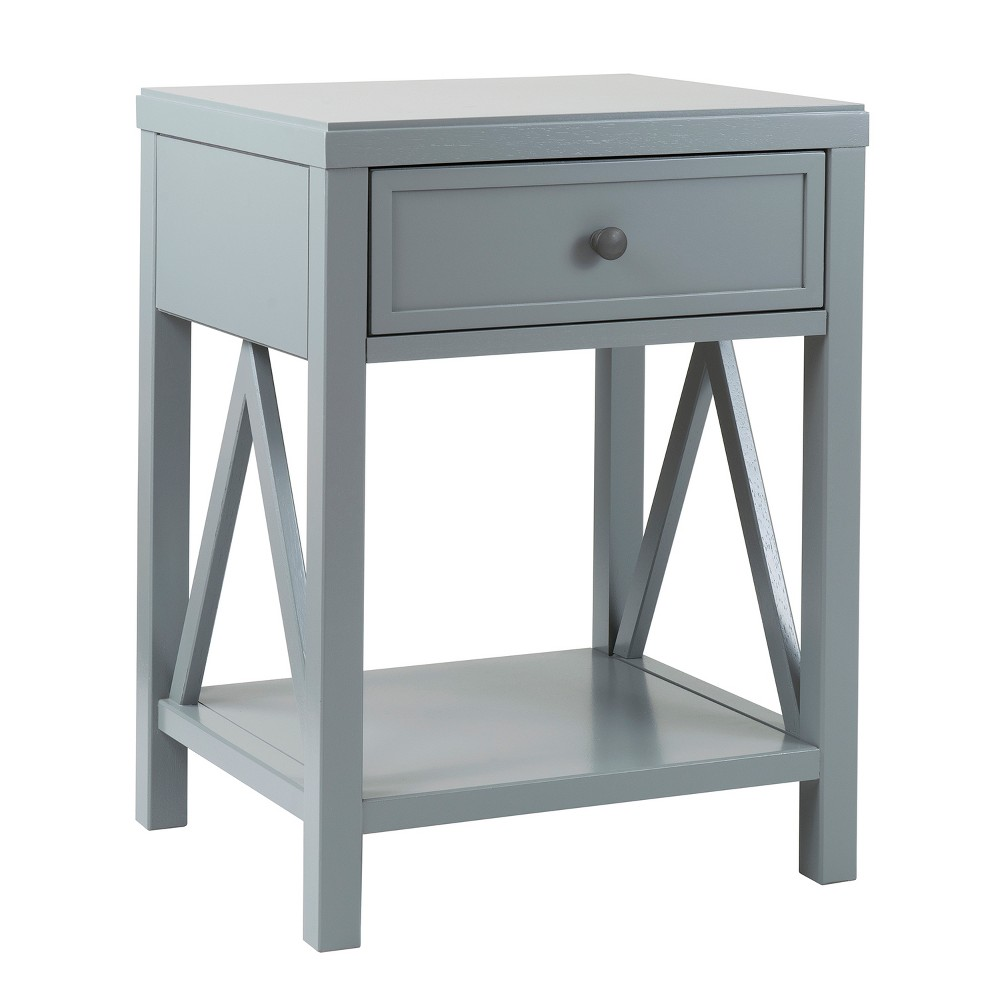 Wilco Acacia Accent Table Gray - East At Main