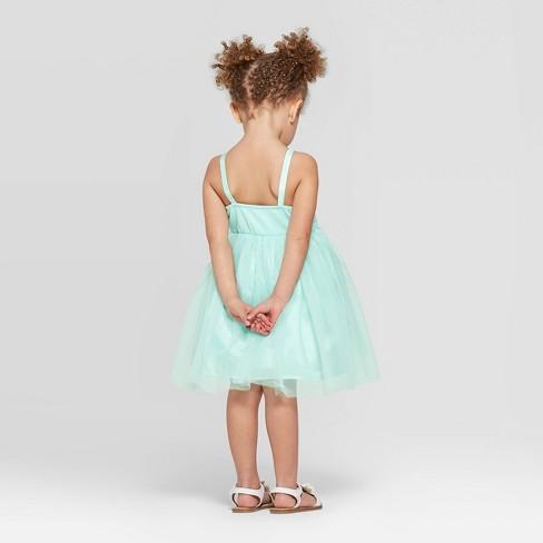 5d928c604ad Toddler Girls  Sequined Bodice Tulle Dress - Cat   Jack™ Aqua