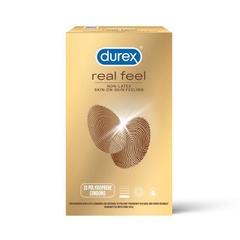 Durex RealFeel Non-Latex Lubricated Condoms - 10ct - image 1 of 4