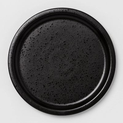 "10.6"" Porcelain Ravenna Dinner Plate Black - Project 62™"