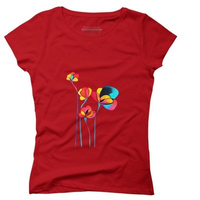 Abstract Flowers Juniors Graphic T-Shirt - Design By Humans