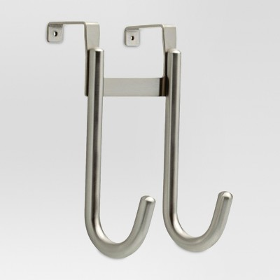Smooth Over the Door Double Hook - Satin Nickel - Threshold™