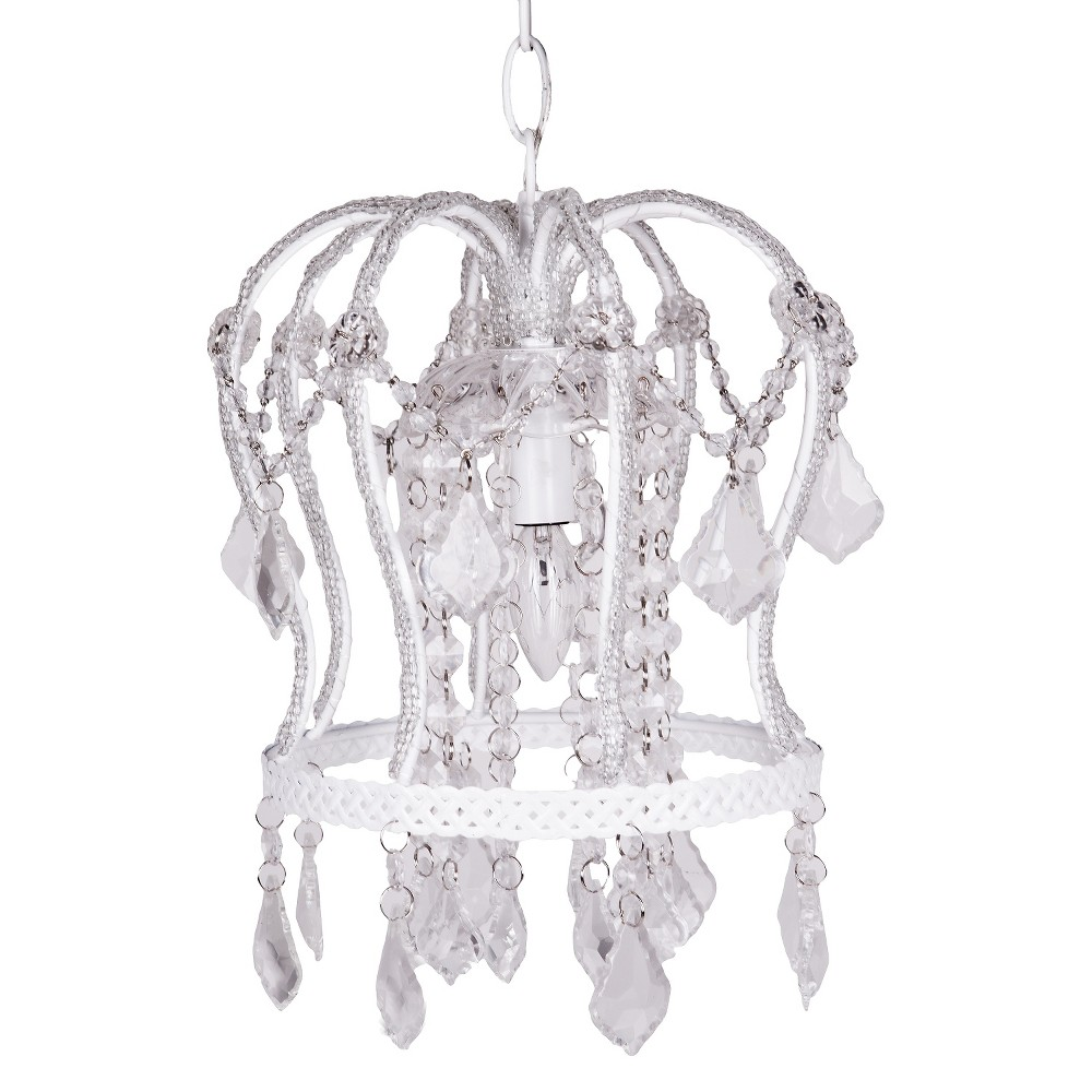 Image of Tadpoles Crown Chandelier - White
