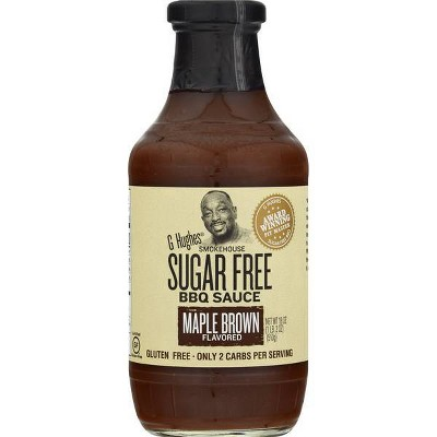 G Hughes Smokehouse Sugar Free BBQ Sauce Maple Brown Flavored - 18oz