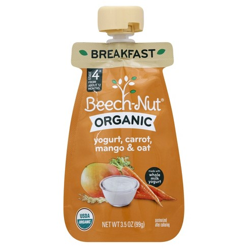 Beech-Nut Organic Puree Pouch Yogurt, Carrot, Mango Oat - 3.5oz - image 1 of 1