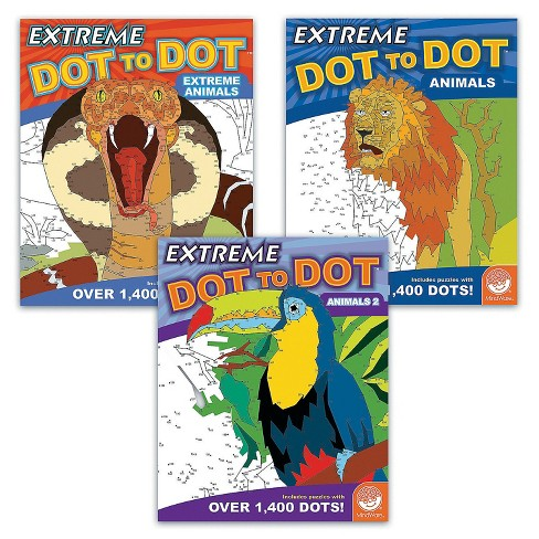 MindWare Extreme Dot To Dot Animals: Set Of 3 - Brainteasers - image 1 of 4