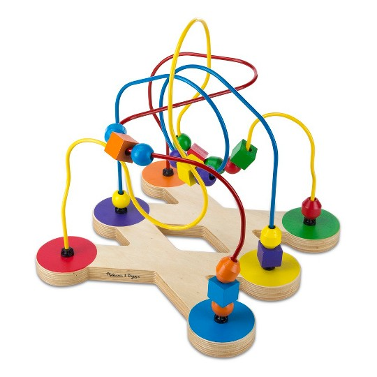 Melissa & Doug Classic Bead Maze - Wooden Educational Toy image number null