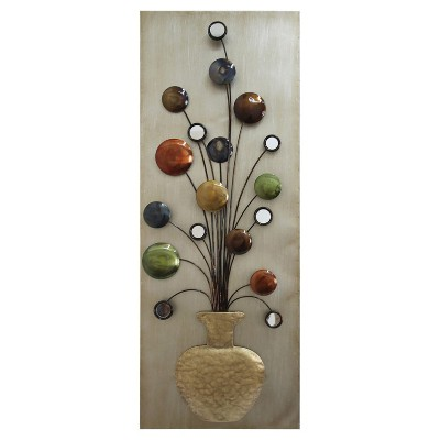 Wall Decor-Pot with Mirrors-R - Home Source