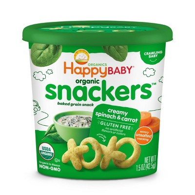 HappyBaby Spinach Carrot Baby Snacks - 1.5oz