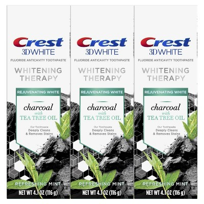 Crest 3D White Whitening Therapy Toothpaste Charcoal with Tea Tree Oil - 4.1oz