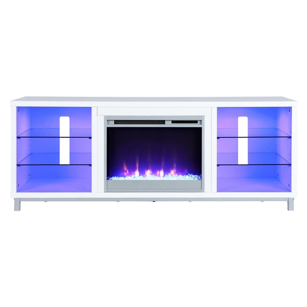 Yorkshire Fireplace Tv Stand For Tvs Up To 70 Wide - White - Room & Joy