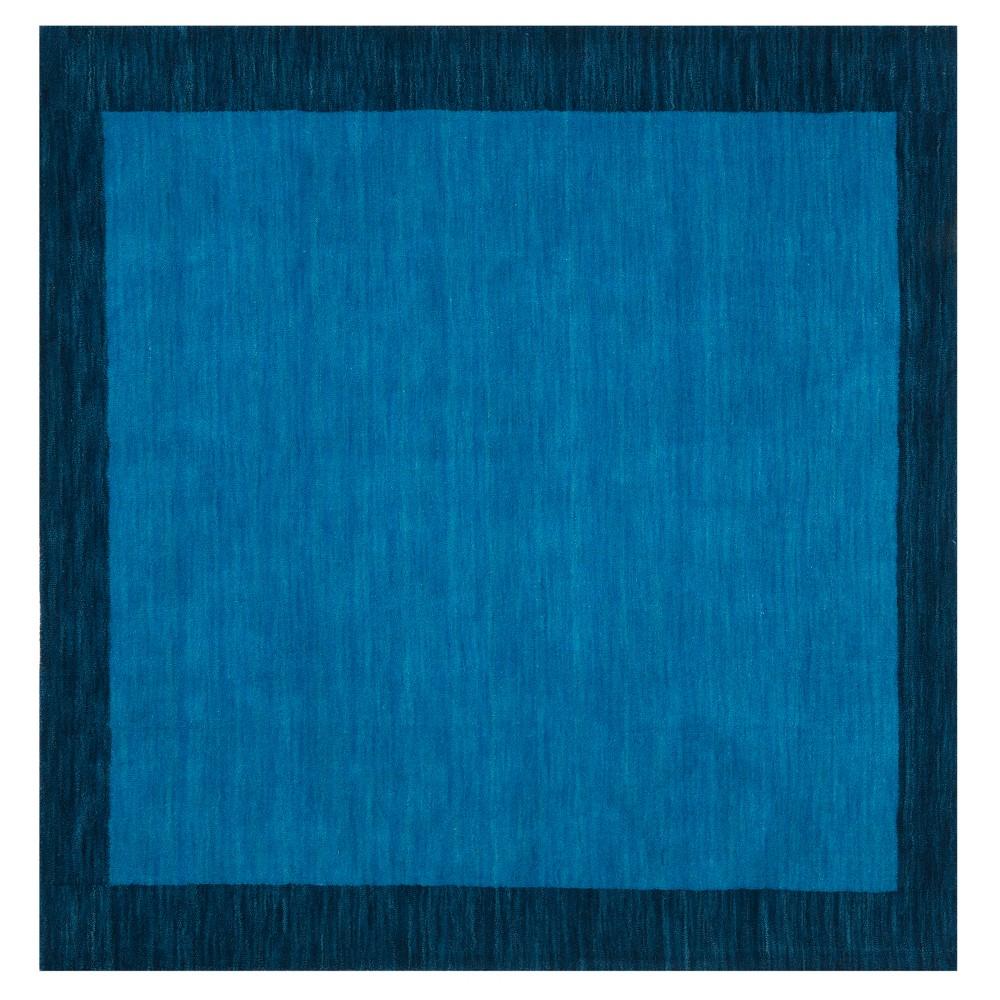 Light Blue/Dark Blue Solid Loomed Square Area Rug 6'X6' - Safavieh, Light Bluendark Blue