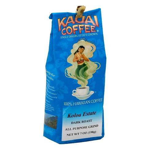 Kauai Coffee Koloa Estate Dark Roast Ground Coffee - 7oz - image 1 of 1