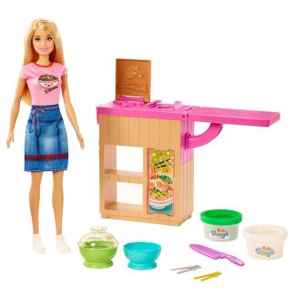 Barbie You Can Be Anything Noodle Maker Blonde Doll and Playset