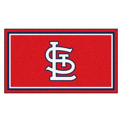 MLB St. Louis Cardinals 3'x5' Plush Area Rug - Navy