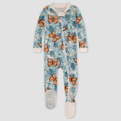 Burt's Bees Baby® Baby Girls' Butterfly Snug Fit Footed Pajama