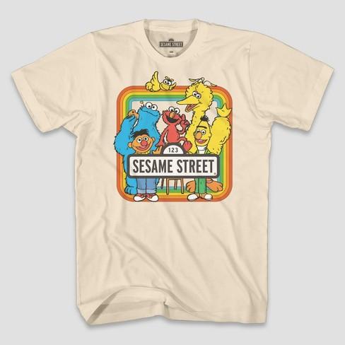 b61db4b913ab Men's Short Sleeve Sesame Street Graphic T-Shirt - Cream 2XL : Target