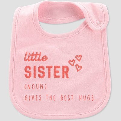 Baby Girls' 'Little Sister' Bib - Just One You® made by carter's Pink