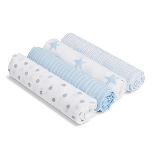 aden + anais essentials Muslin Swaddles - 4pk - image 1 of 3