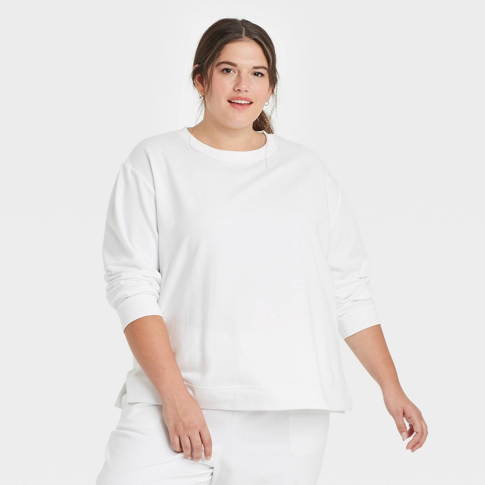 Women 39 S Plus Size Sweatshirt Ava 38 Viv 8482 White X