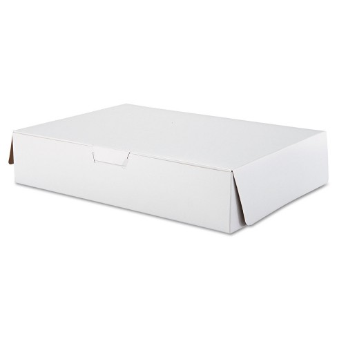 SCT Tuck-Top Bakery Boxes 19w x 14d x 4h White 50/Carton 1029 - image 1 of 3