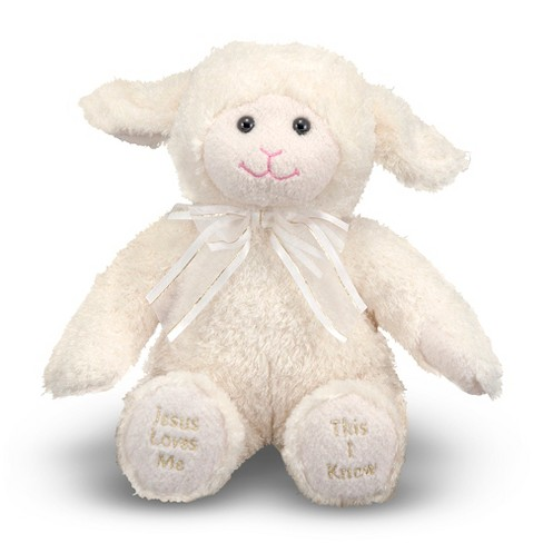 Melissa & Doug® Jesus Loves Me Lamb - Stuffed Animal With Sound Effects - image 1 of 2