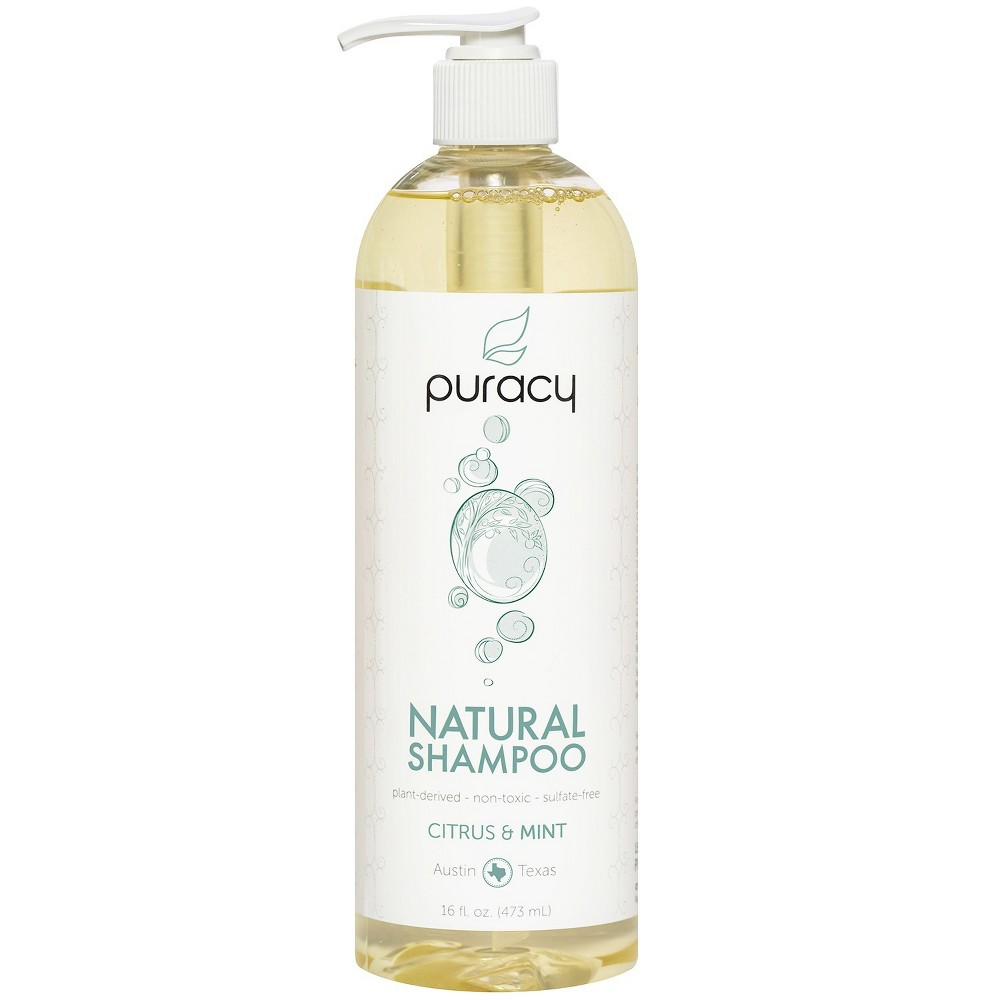 Image of Puracy Citrus & Mint Sulfate-Free Natural Daily Shampoo - 16 fl oz