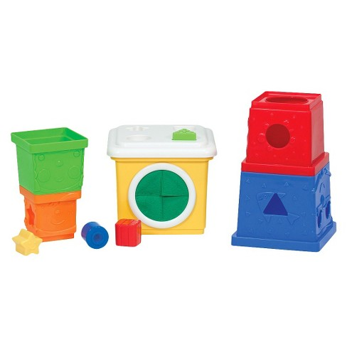Melissa & Doug® K's Kids Stacking Blocks Set With Sorting Shapes - image 1 of 5