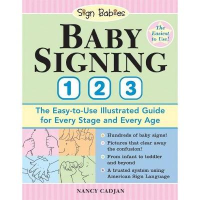 Baby Signing 1-2-3 - (Sign Babies)by Nancy Cadjan (Paperback)