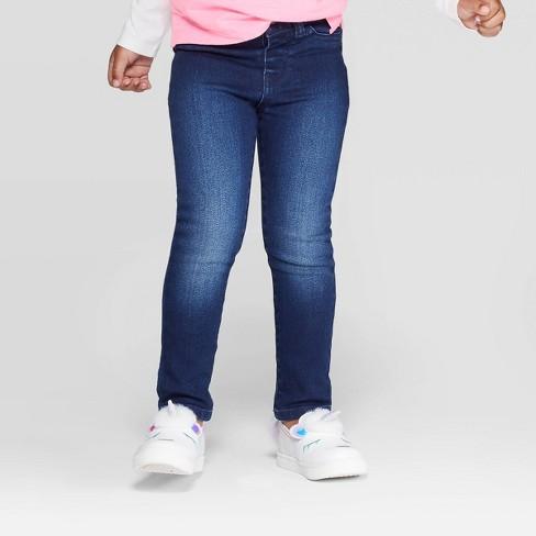 Toddler Girls' Jeans - Cat & Jack™ Dark Blue - image 1 of 3