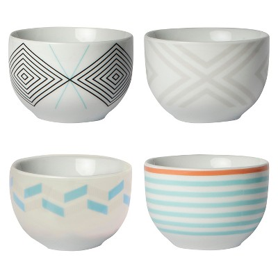 Cheeky® 8oz Porcelain Mini Bowls - White 4-pack
