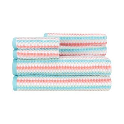 6pc Acapulco Bath Towel Set Pastel - CARO HOME